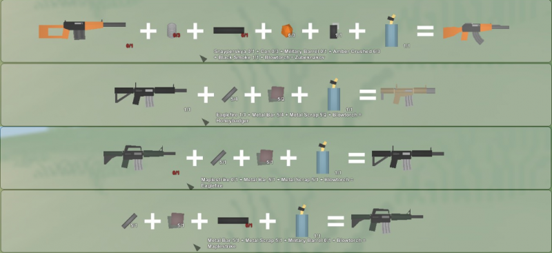 Unturned Crafting Recipes With Pictures